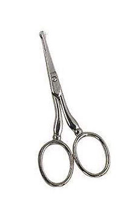 Pro Stainless Steel Ear Nose Eyebrow Hair Cutting Scissor Shears Beauty Tool