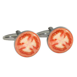 Tomato-Design-Cufflinks-Gift-Boxed-half-sliced-cherry-beef-tomate-NEW