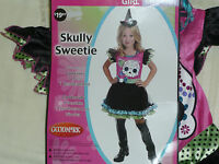 Girls Size 8-10 Skull Sweetie Halloween Costume-girls Costume