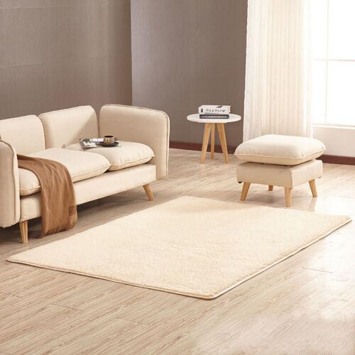 Alfombra de salón moderna pila corta diseño liso poliéster 10 tamaños 14 colores