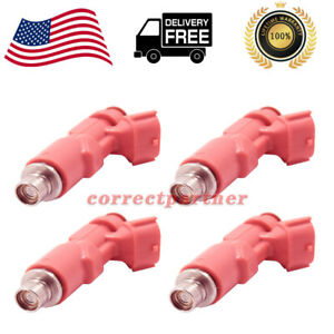 4X Fuel Injector 23250-75080 Fits for Toyota Tacoma 4Runner 2.4L 2.7L L4 99-04