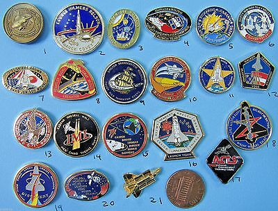 NASA enamel PIN lot of 21- vtg Space Shuttle ENDEAVOR Discovery COLUMBIA Group C