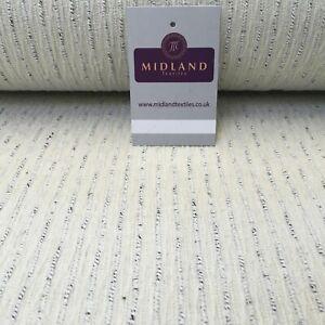 Crème Texturé Mélange Laine Melton Revêtement Poly Loop Tissu 147 cm MK1194-2 Mtex