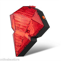 Bicycle Laser Tail Light Weatherproof 9 Super Bright Leds Rechargeable Batteries