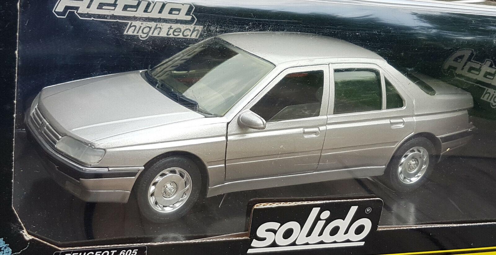 1 18 Peugeot 605 Originalzustand OVP Solido Selten RAR - Decals NEU