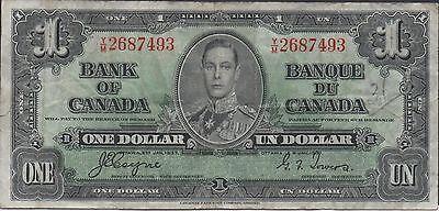 Bank Of Canada Canada $1 2.1.1937 Prefix Y/m Circulated Banknote