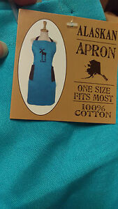 Alaska-Leggy-Moose-Apron-One-size-fits-most-Pockets-100-Cotton-LAST-FEW
