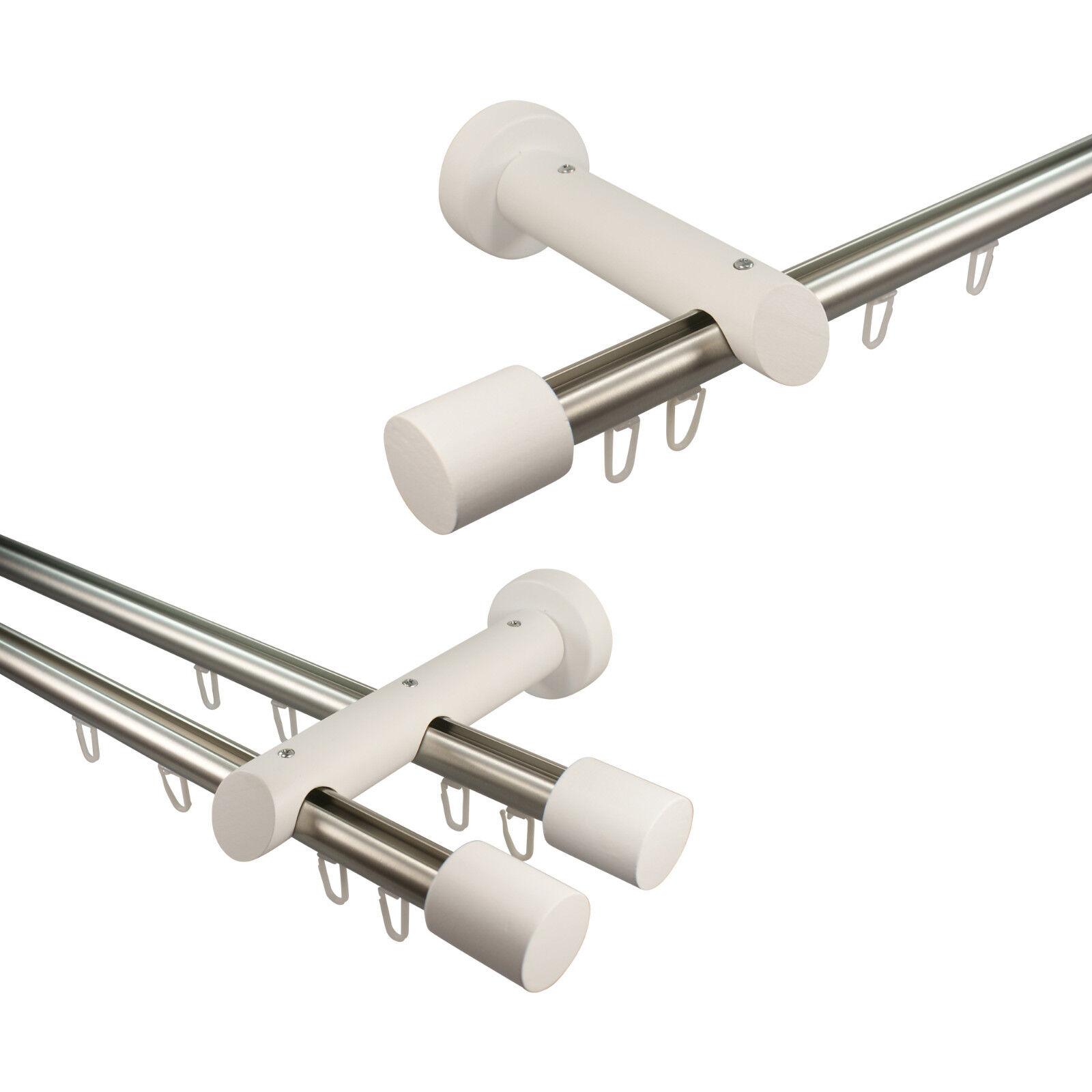 Innenlauf Gardinenstangen Vorhangstangen aus Alu Holz Farbe Farbe Farbe Edelstahl Weiß 20 mm | Große Ausverkauf  4e2d35