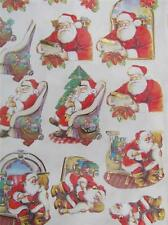3D Paper Tole Card Making Embossed Sitting on Santa's Lap 3 Pictures