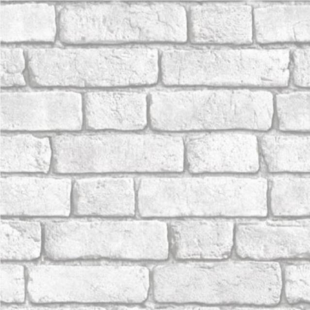 De Lujo Muriva Ladrillo Pared Efecto Blanco Vinilo Con Textura 10m - Pared-ladrillo-blanco