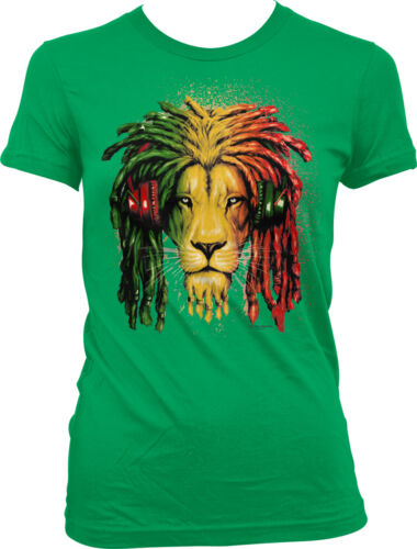 Jamaican Lion Flag Dread Locks Jamaica Pride Olympics Juniors T-shirt