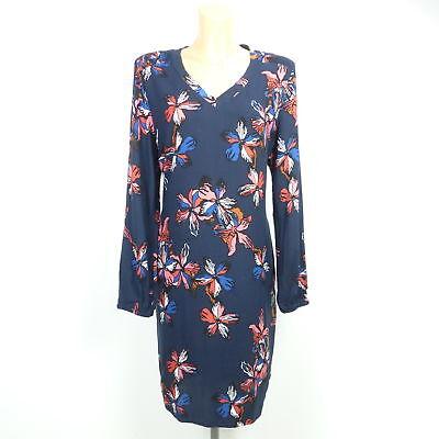 2019 Neuer Stil Garcia Ausgestelltes Hemd Blusenkleid Blumen Print Kleid Blau Gr. Xl Novel (In) Design;
