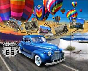 Man Cave New Mexico : Route tile mural backsplash todd ceramic new mexico man cave