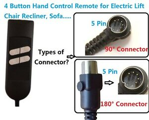 4 BUTTON HAND CONTROL REMOTE FOR LIFT CHAIR RECLINER SOFA