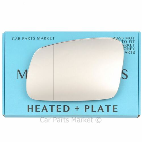 plate Left side Wide Angle Wing door mirror glass for  Discovery 95-04 heated