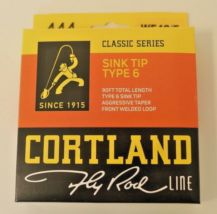 Cortland 444 Sink Tip Type 6 WF4S/F Fly Line Free Fast Shipping 474420