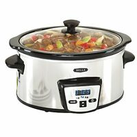 Bella 13973 Programmable Slow Cooker, 5-quart, Polished , New, Free Shipping on sale