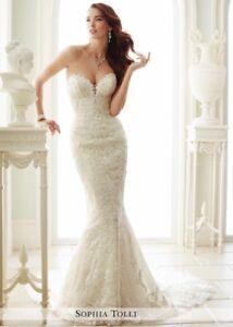 ab7d29d244db Image is loading Sophia-Tolli-Milano-ivory-mermaid-Wedding-Dress-Beaded-