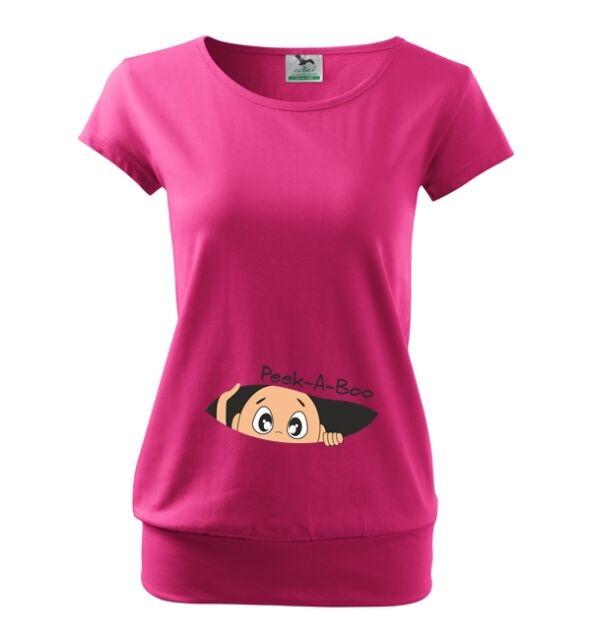 Maternity Pregnancy T-shirt Top Funny PEEK-A-BOO baby shower gift Peekigng baby
