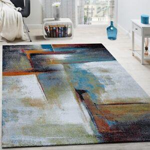 Grey Blue Ochre Pattern Room Carpet Mat
