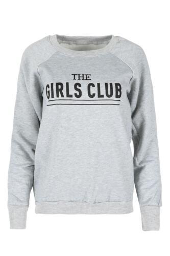 Femmes nouveauté pull sweater femme les filles club imprimé fleece sweatshirt