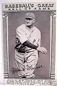 Details About Honus Wagner Baseball Great Hall Of Fame Exhibit Card