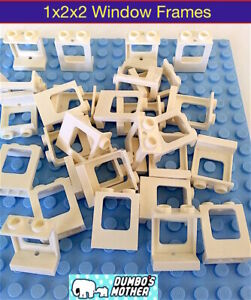 Lego-Window-Frames-1x2x2-White-Sold-in-Lots-of-30