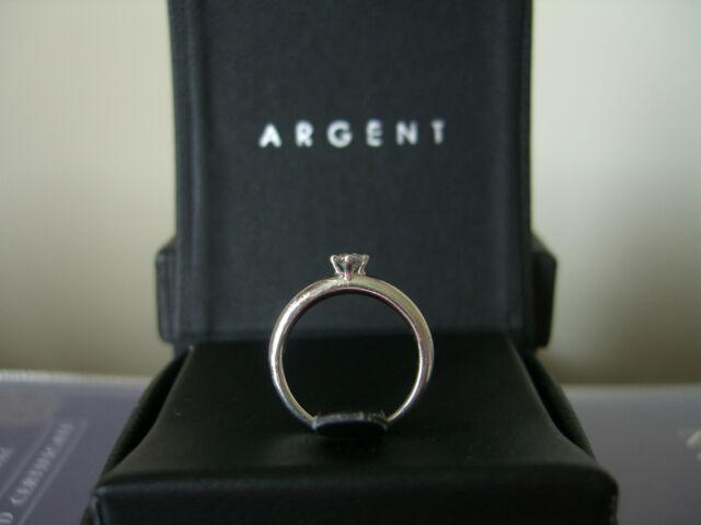 D se impeccabile Platino Diamante Solitario Anello Certificato-perfetto per fidanzamento