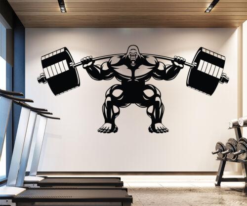 Gorilla Muscle Gym Wall Decal Fitness Motivation Sport Art Decal Sticker LB52