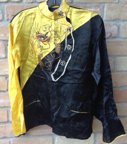 Vtg 30s/40s? Dragon Blouse Shirt Sz M? DAMAGED AS-