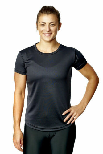 Womens Sports Top Activewear T-Shirt Fitness Exercise Running Ladies Gym Tee