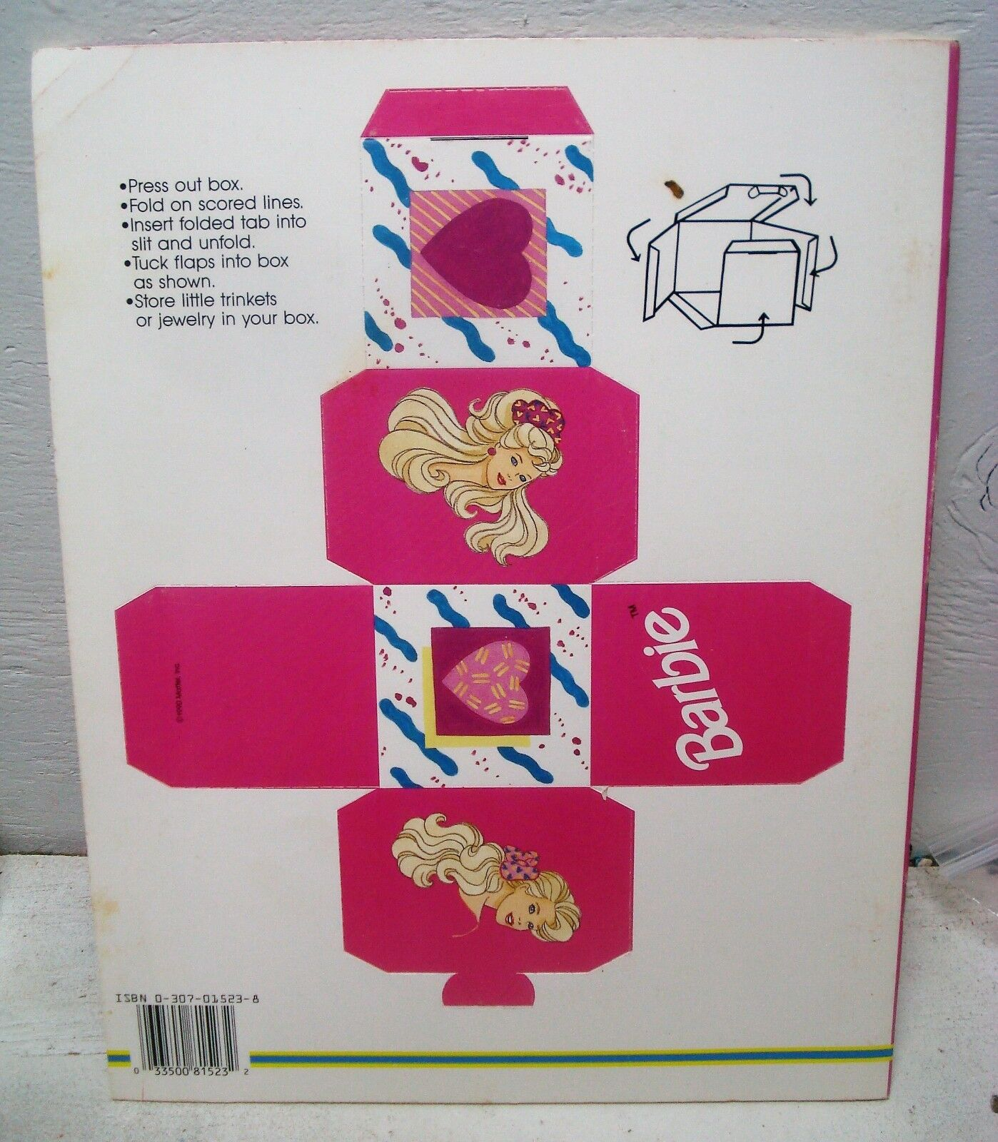Vintage 1990/'s Reed Paper Shopper BARBIE 12 Paper Party Hats Deadstock NIP