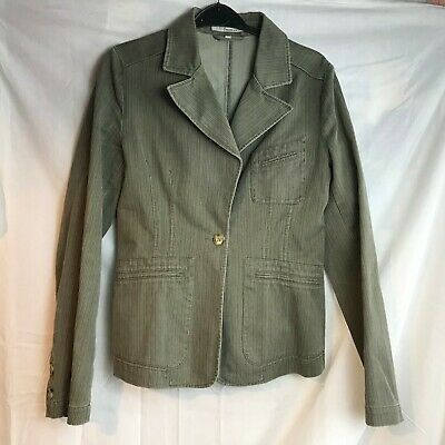 More & More Green Ladies Womens Girls Green Stitched Jacket Size 34 8 Gute QualitäT