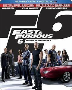 Fast & Furious 6 (Limited Edition SteelBook) (Blu-ray + DVD + Digital Copy +...