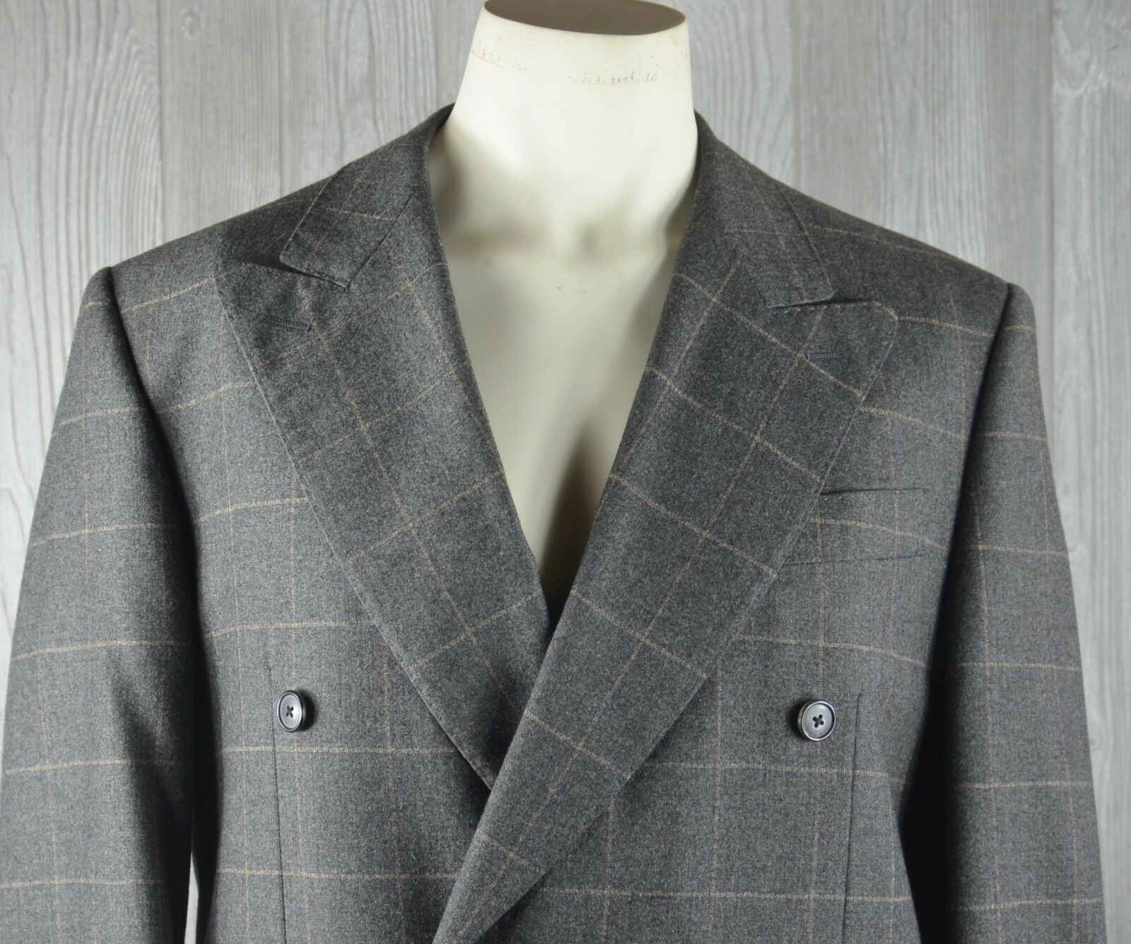 Dei Giovani Lgold Piana Men's 40-32 Double Breasted 2 Piece Suit Wool Cashmere