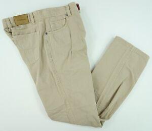 Ermenegildo Zegna Hombre 32 X 30 Beige Frente Plano Algodon 5 Bolsillo Pantalones Pantalones Ebay