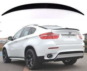 Details About Fits Bmw X6 E71 2008 2013 Rear Boot Spoiler Look Performance Tuning