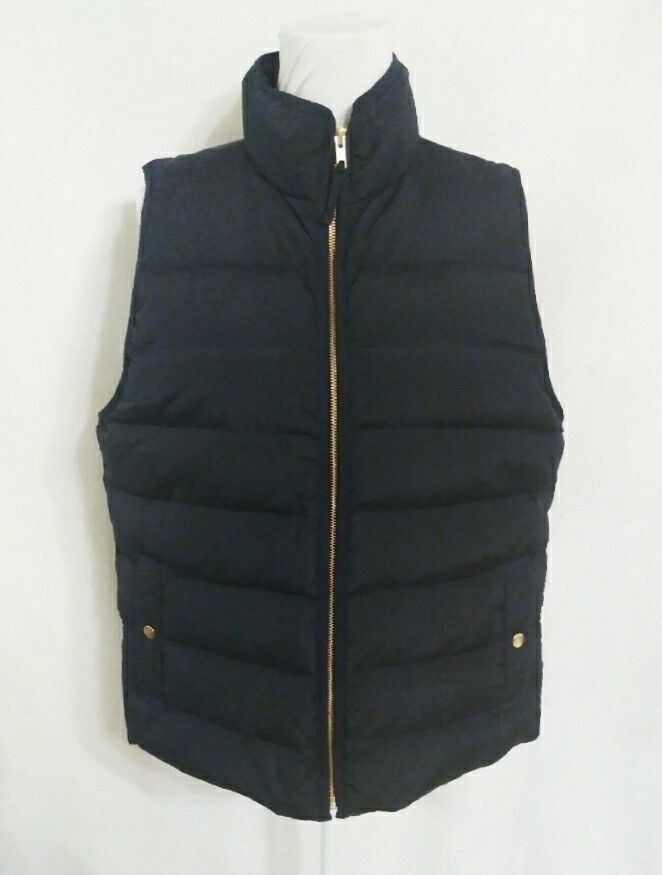 J.Crew Mountain Puffer Vest Navy Size XL Down-Filled Item H1623  NWT