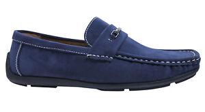 Homme Chaussures Foncé Élégant Classe Daim Mocassins Bleu Décontracté Classe SzVpUM