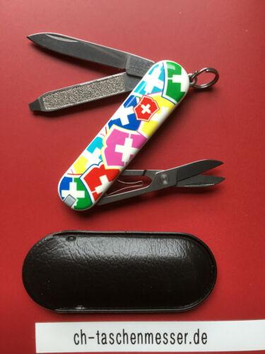 Victorinox Classic VX Colors kleines schweizer Taschenmesser bunt mit Schere