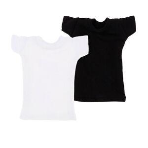 1-6-Military-Female-Figure-Top-T-Shirts-2Pcs-for-12inch-JIAOU-DOLL-Body-DIY