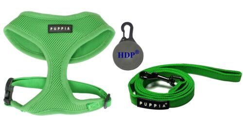 Puppia Dog Puppy Soft Mesh Harness and a leash COMBO