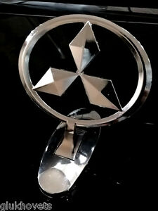 OEM Mitsubishi Emblem Ornament Hood Metal Chrome Mitsubishi Badge Logo | eBay