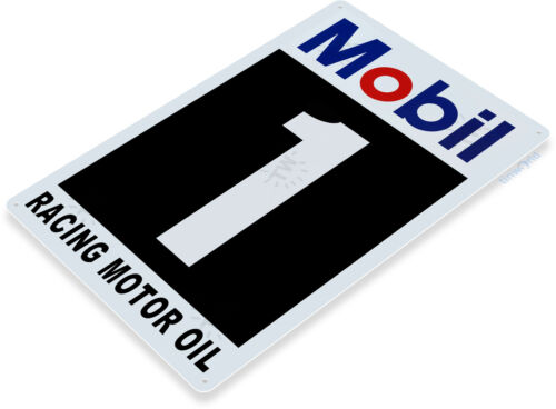 Tin Sign Mobil 1 Racing Motor Oil Oil Gas Station Sign Garage Auto Shop C551