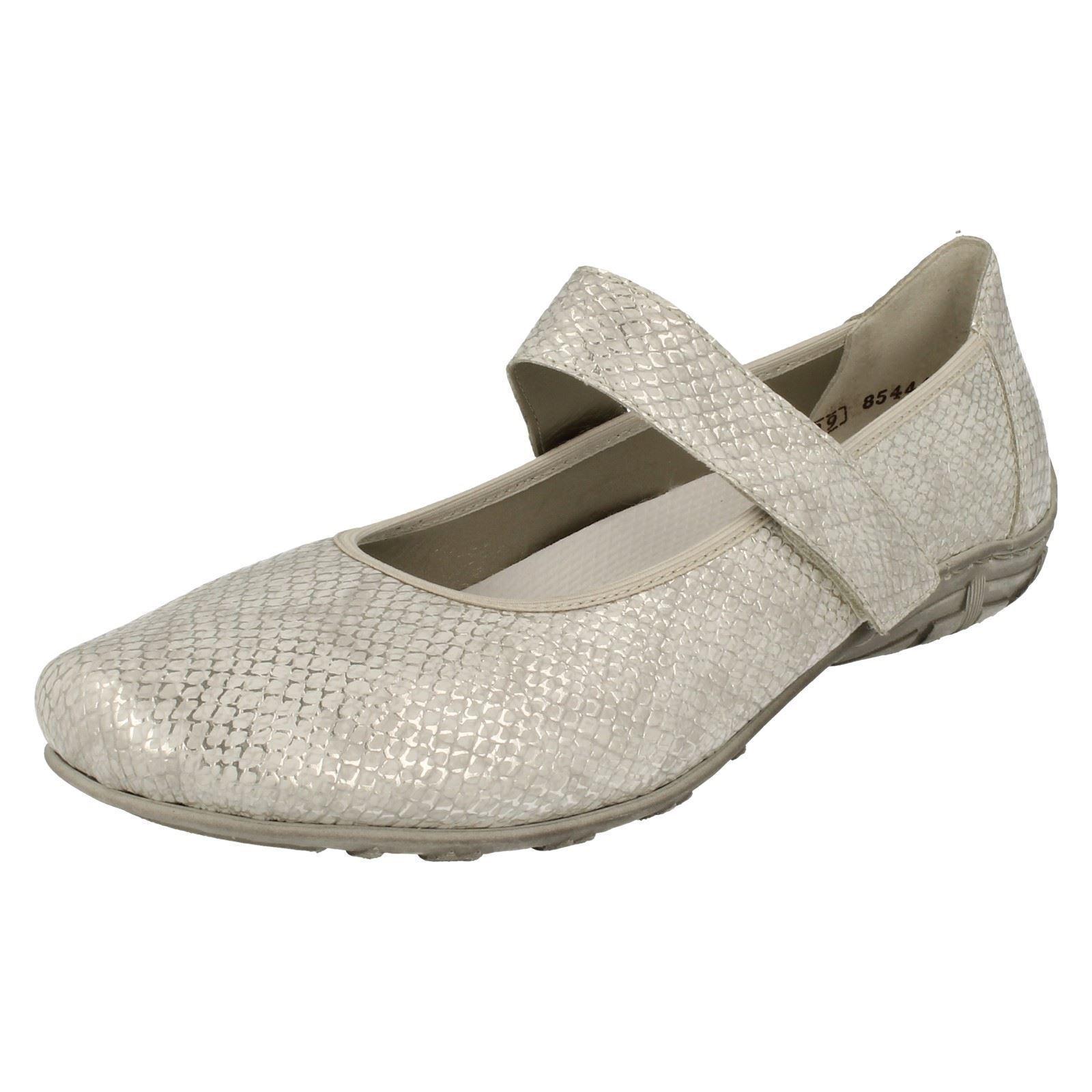 blancoo de las Señoras Señoras Señoras Zapatos Planos Plataforma Bailarina Rieker Riptape L2062  Envíos y devoluciones gratis.