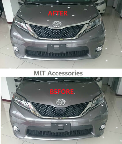 MIT for TOYOTA SIENNA 2011-2019 Engine Hood Garnish ABS chrome cover trim