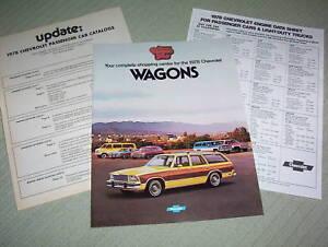 1978 Chevrolet Wagon Brochure Caprice//Impala//Malibu+++