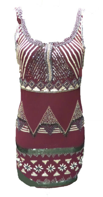 Womens Ladies New Long Black & Beige Sequin Embellished Dress (Sizes 8 - 16)