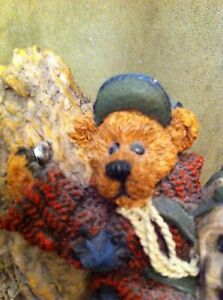 Vintage Boyd's Bears Mtn Climber Figurine Sir Edmund Persistence Blue Red Brown
