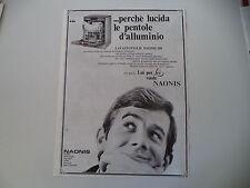 advertising Pubblicità 1968 LAVASTOVIGLIE NAONIS 208